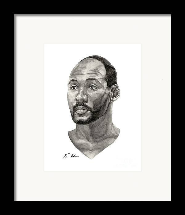 Karl Malone Framed Print featuring the painting Karl Malone by Tamir Barkan
