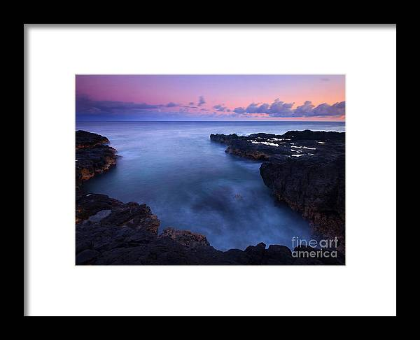 Spouting Horn Framed Print featuring the photograph Kauai Pastel Tides by Mike Dawson