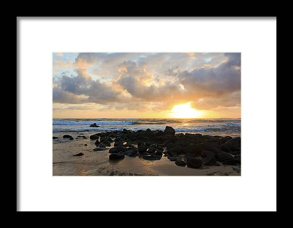 America Framed Print featuring the photograph Kauai Sunrise Two by Artistic Photos