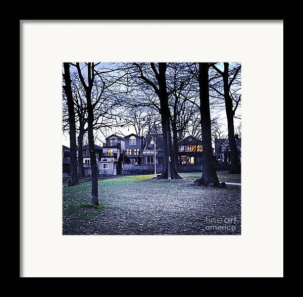 Park Framed Print featuring the photograph Kew Park At Dusk by Elena Elisseeva