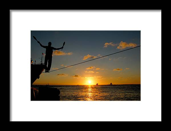Key West Framed Print featuring the photograph Key West Sunset Performance by John Banegas