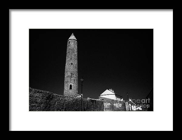 Europe Framed Print featuring the photograph Killala Round Tower County Mayo Ireland by Joe Fox