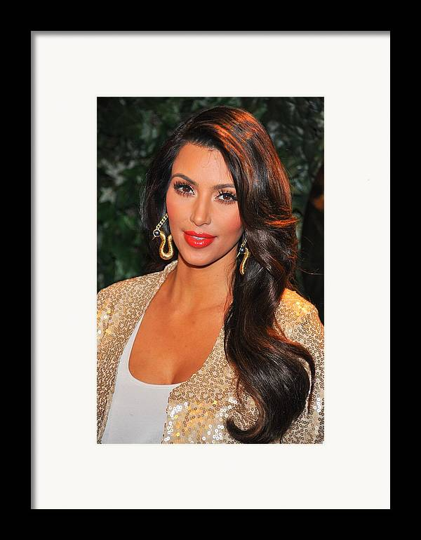Kim Kardashian Framed Print featuring the photograph Kim Kardashian At Arrivals For Qvc Red by Everett