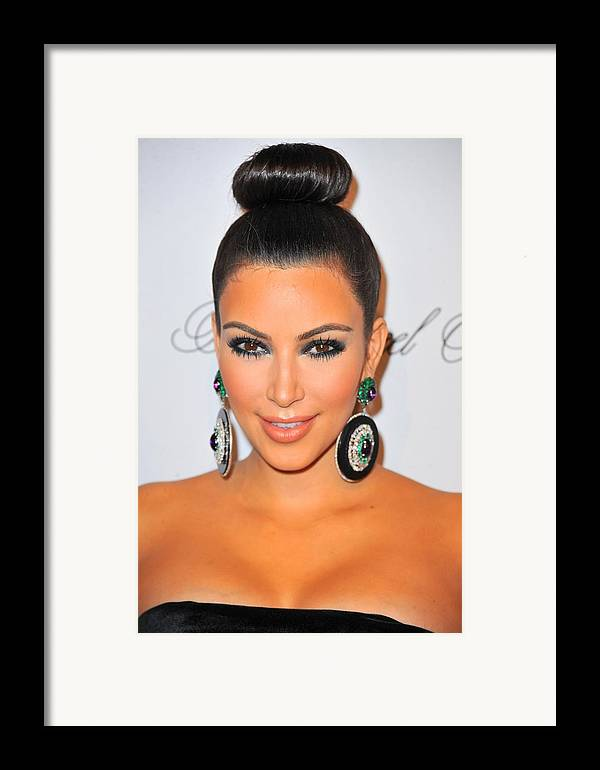Kim Kardashian Framed Print featuring the photograph Kim Kardashian At Arrivals For The by Everett