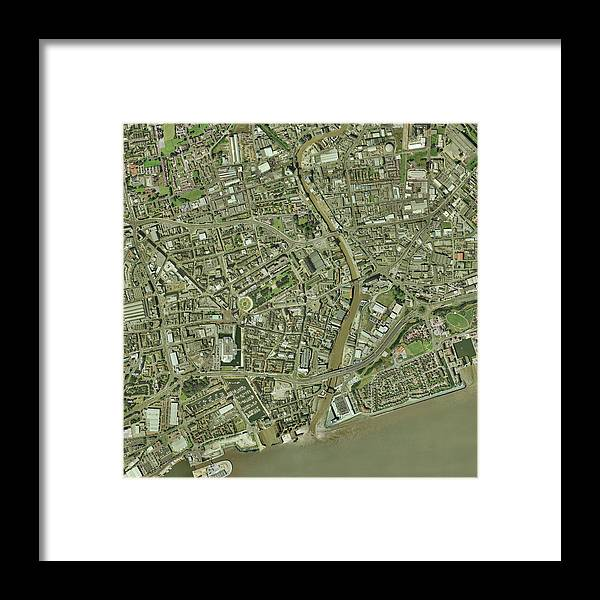 Humber Framed Print featuring the photograph Kingston Upon Hull, Uk by Getmapping Plc