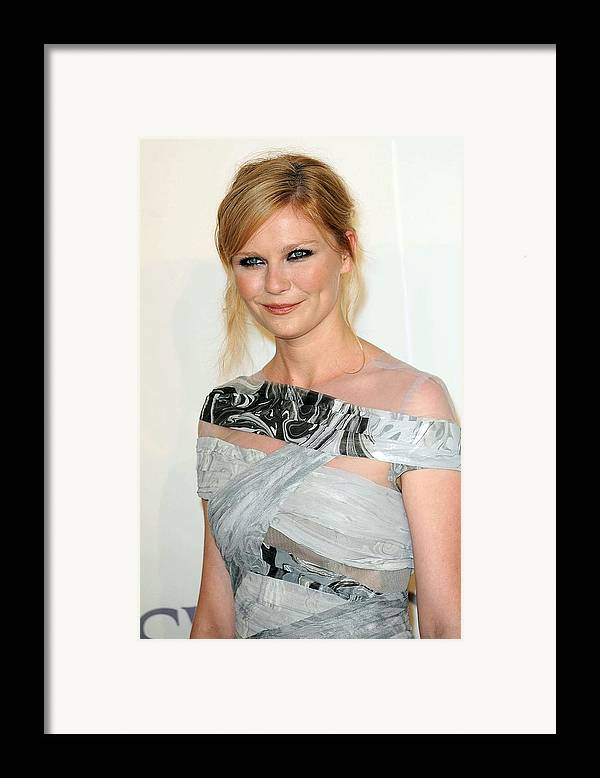 Kirsten Dunst Framed Print featuring the photograph Kirsten Dunst At Arrivals For The 2009 by Everett