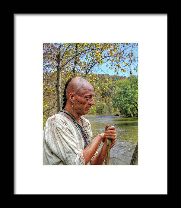 Warrior Framed Print featuring the digital art Kiski River Morning by Randy Steele
