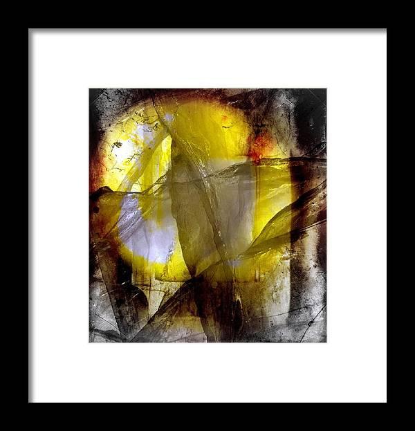 Abstract Framed Print featuring the digital art Kiss of the sun by Joseph Ferguson