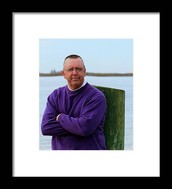 Portrait Framed Print featuring the photograph Kj By The Docks by Theresa Johnson