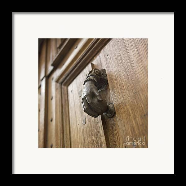 Brown Framed Print featuring the photograph Knocker by Bernard Jaubert