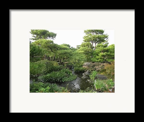 Japan Framed Print featuring the photograph Kokoen Samurai Gardens - Himeji City Japan by Daniel Hagerman