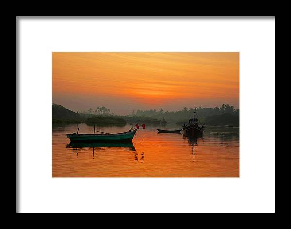 Sunrise Framed Print featuring the photograph Konkan Dreamscape by Amitabha Gupta