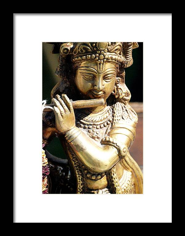 Sculpture Framed Print featuring the photograph Krishna Song by Jennifer Russo
