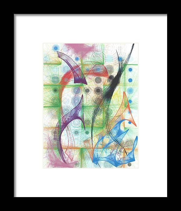Abstract Framed Print featuring the digital art Ksb Images Njm13 by KSB Images