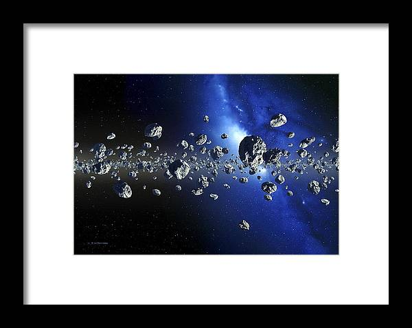 Icy Body Framed Print featuring the photograph Kuiper Belt Objects by Detlev Van Ravenswaay