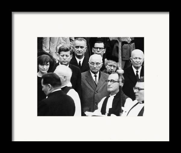 1960s Framed Print featuring the photograph L-r, Facing Camera First Lady by Everett
