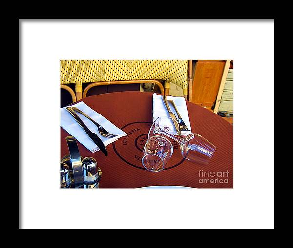 Table Framed Print featuring the photograph La Petit by Yury Bashkin