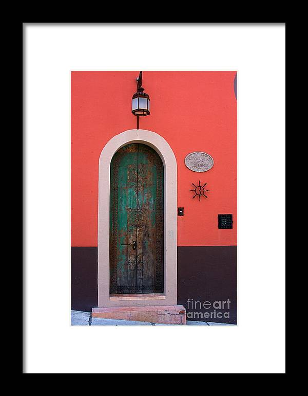 Framed Print featuring the photograph La Puerta by Nicola Fiscarelli