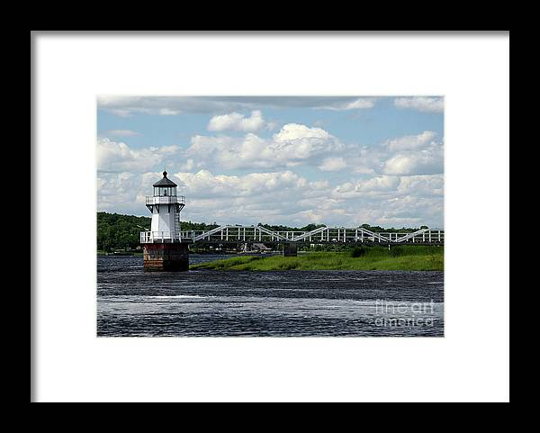 Doubling Point Light Framed Print featuring the photograph Lace Lighthouse by Brenda Giasson