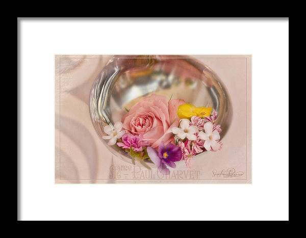 Flowers Framed Print featuring the photograph Ladled With Flowers by Sandra Rossouw