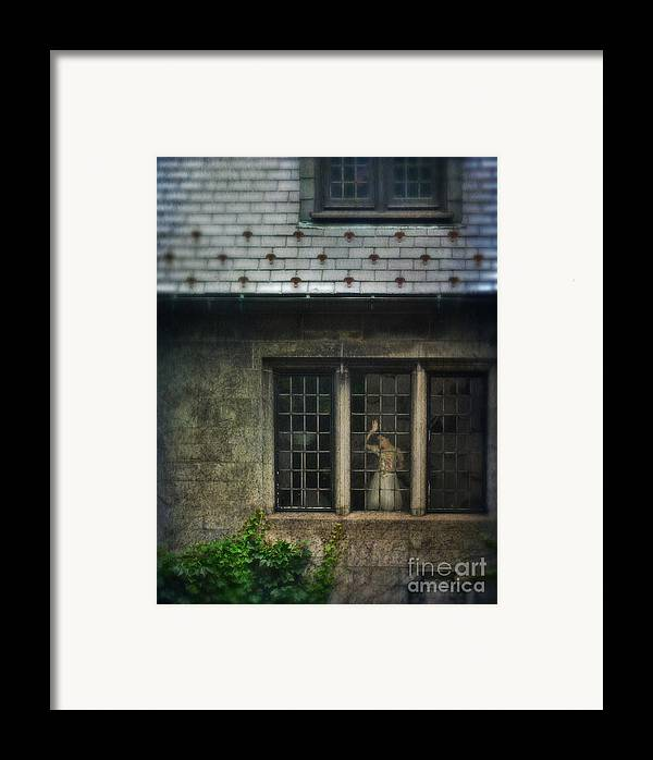 Beautiful Framed Print featuring the photograph Lady By Window Of Tudor Mansion by Jill Battaglia