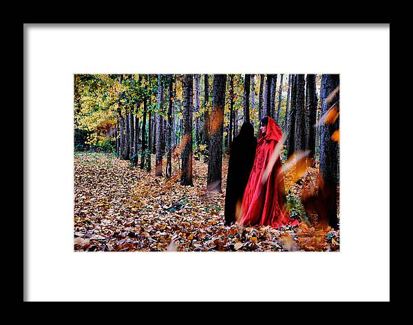 Trees Framed Print featuring the photograph Lady In Red - 4 by Okan YILMAZ