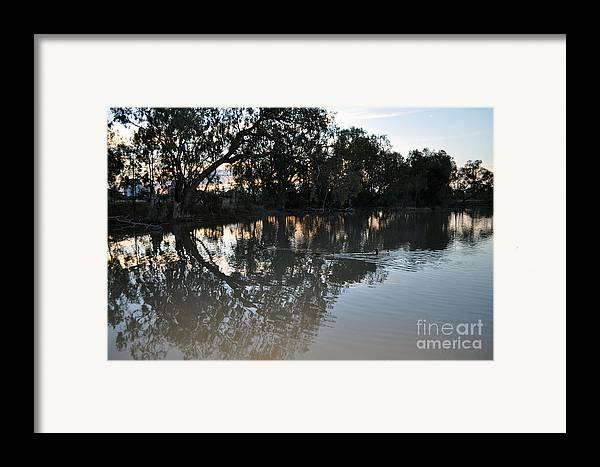 Lagoon Framed Print featuring the photograph Lagoon At Dusk by Joanne Kocwin