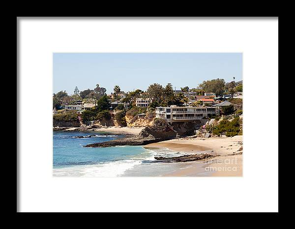 America Framed Print featuring the photograph Laguna Beach Waterfront Homes by Paul Velgos