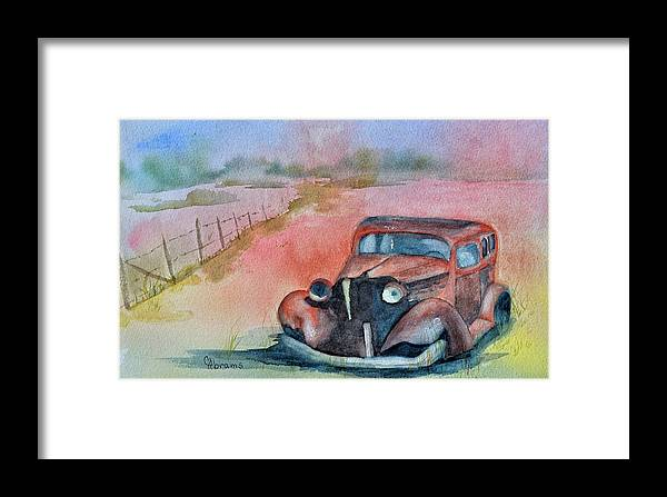Water Color Framed Print featuring the painting Laid To Rust by Claire Abrams