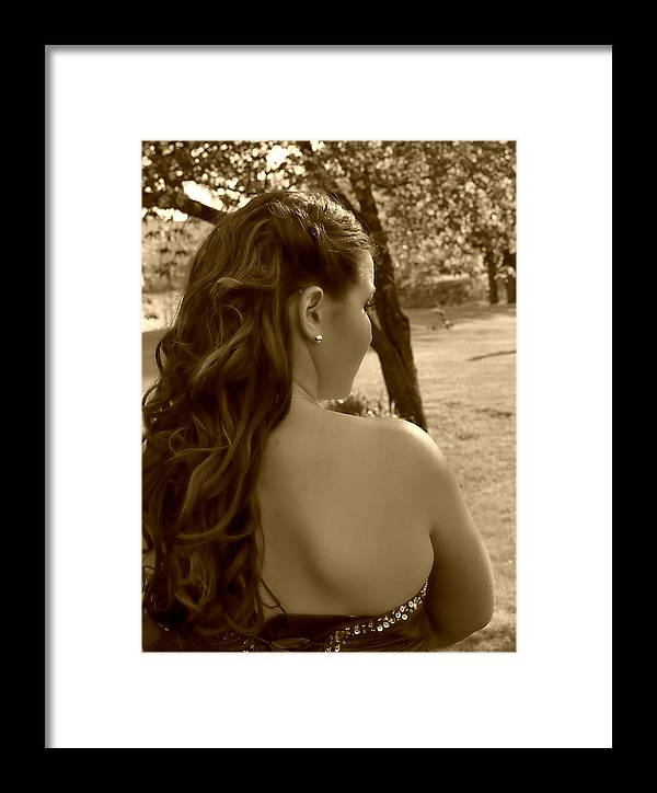 Framed Print featuring the photograph Lainey In A Different Light by Casey Riitano
