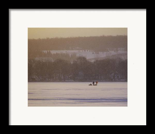 Canandaigua Lake Framed Print featuring the photograph Lake Crossing February 2010 by Joseph Duba