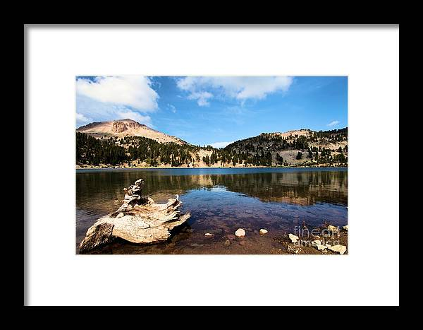 Lassen Volcanic National Park Framed Print featuring the photograph Lake Helen Reflections by Adam Jewell