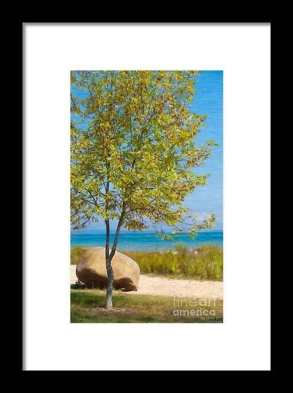 Lake Huron Framed Print featuring the photograph Lake Huron Seashore by Anne Kitzman