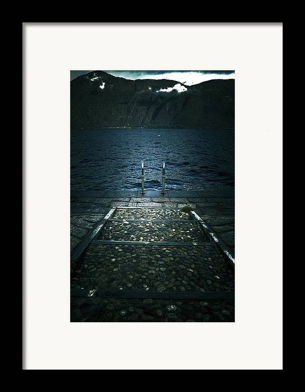 Lago Maggiore Framed Print featuring the photograph Lake In The Winter by Joana Kruse