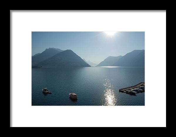 Lake Lugano Framed Print featuring the photograph Lake Lugano by Adrian Buendia