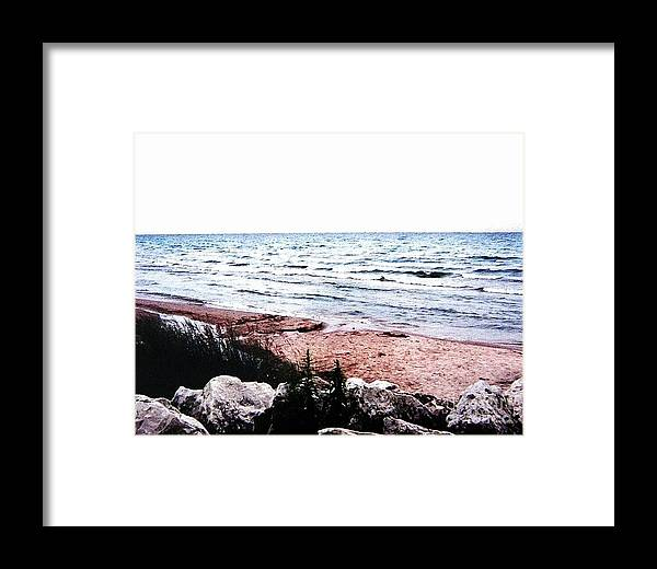Photo Framed Print featuring the photograph Lake Michigan Lll by Marsha Heiken