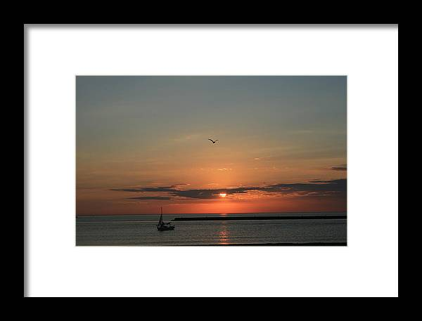 Beautiful Framed Print featuring the photograph Lake Michigan Sun Rise by Kay Novy