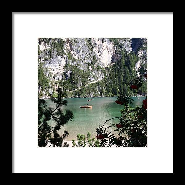 Dolomites Framed Print featuring the photograph Lake of Braies by Luisa Azzolini