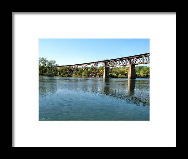 Lake Framed Print featuring the photograph Lake Redding Ca by Joyce Dickens
