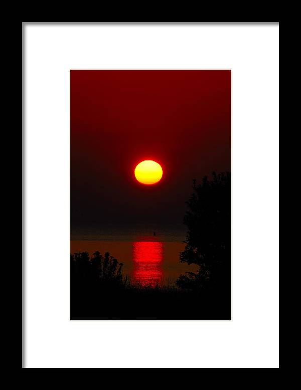 Sunrise Framed Print featuring the photograph Lake Superior Sunrise by Janice Adomeit