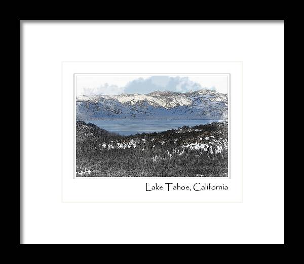 Nature Framed Print featuring the photograph Lake Tahoe California In Winter by Brandon Bourdages