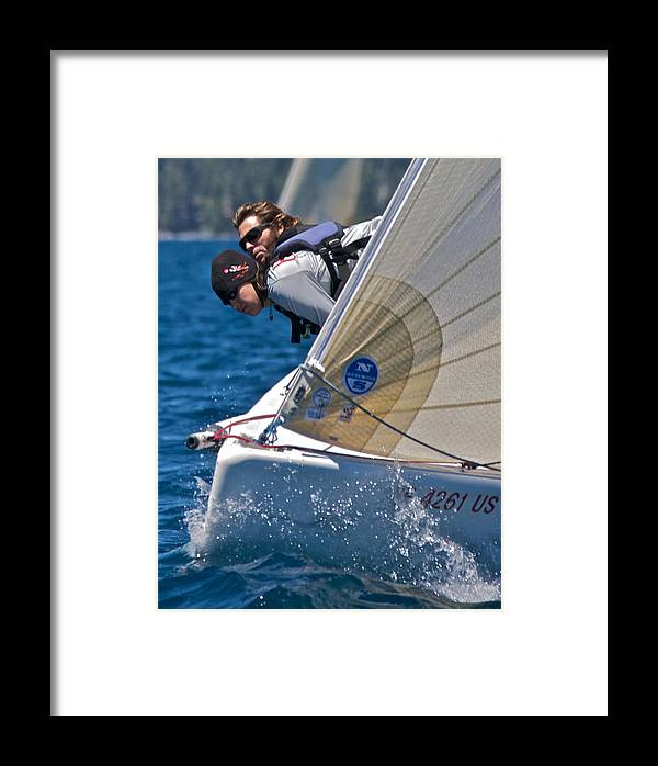 Sailing Framed Print featuring the photograph Lake Tahoe Regatta by Steven Lapkin