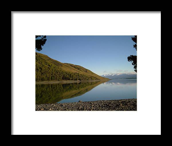Lake Twkapo Framed Print featuring the photograph Lake Tekapo by Joyce Woodhouse