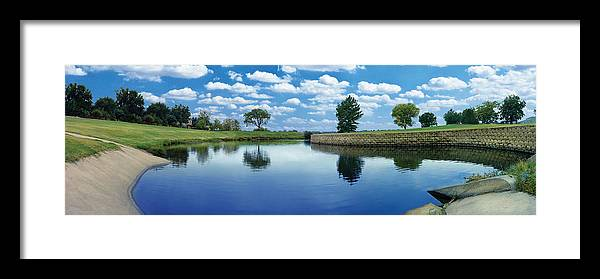 Clouds Framed Print featuring the photograph Lakeridge Duck Pond by Robert Hudnall