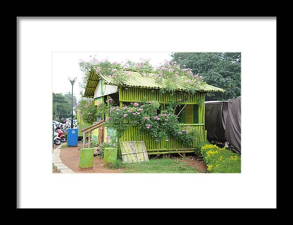Flowers Framed Print featuring the photograph Lalbagh Hut by Profulla Robert