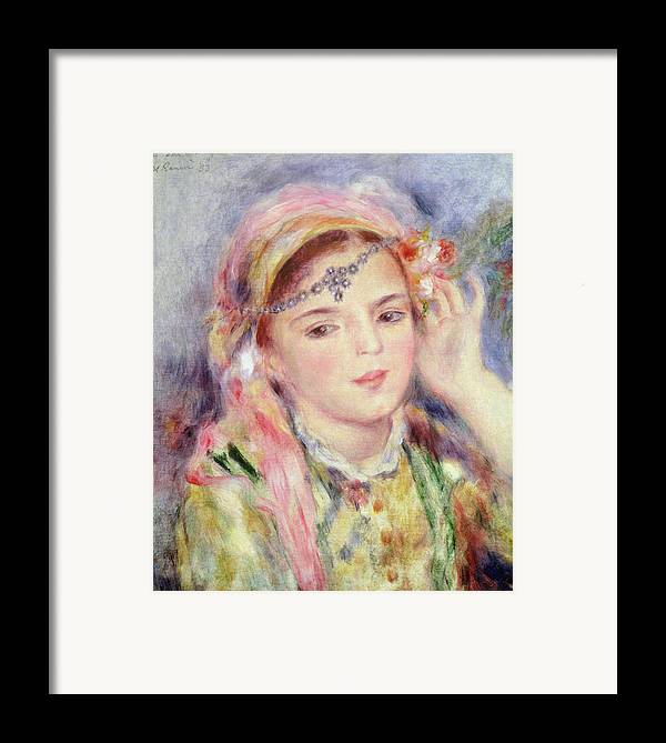 Algerienne Framed Print featuring the painting L'algerienne by Pierre Auguste Renoir