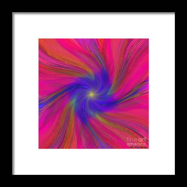 Abstract Framed Print featuring the digital art Lambent by ME Kozdron
