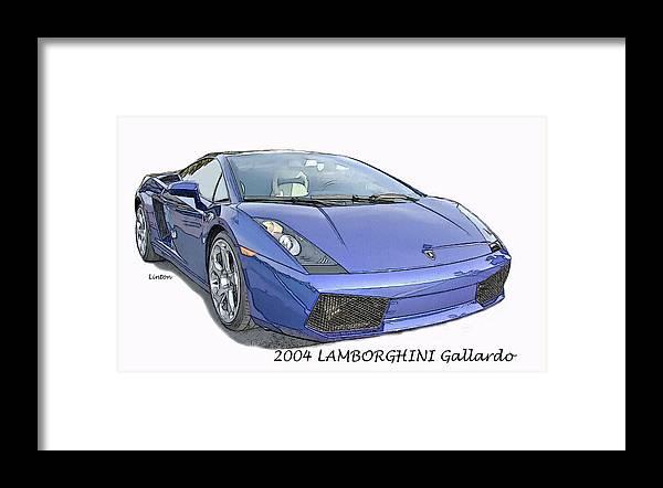 Lamborghini Framed Print featuring the digital art Lamborghini by Larry Linton