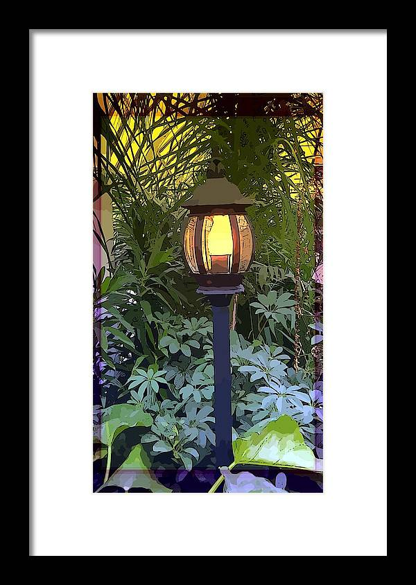 Lamp Framed Print featuring the photograph Lamp Light by Mindy Newman