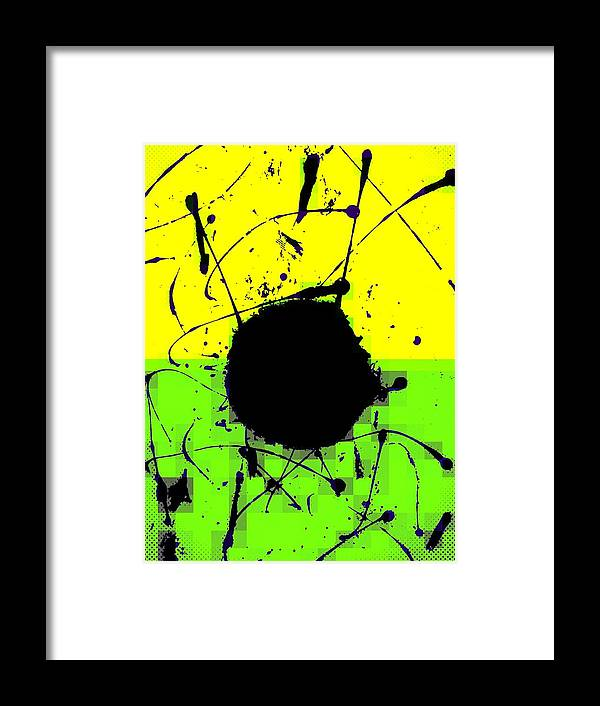 Abstract Framed Print featuring the digital art Land mines by Joseph Ferguson